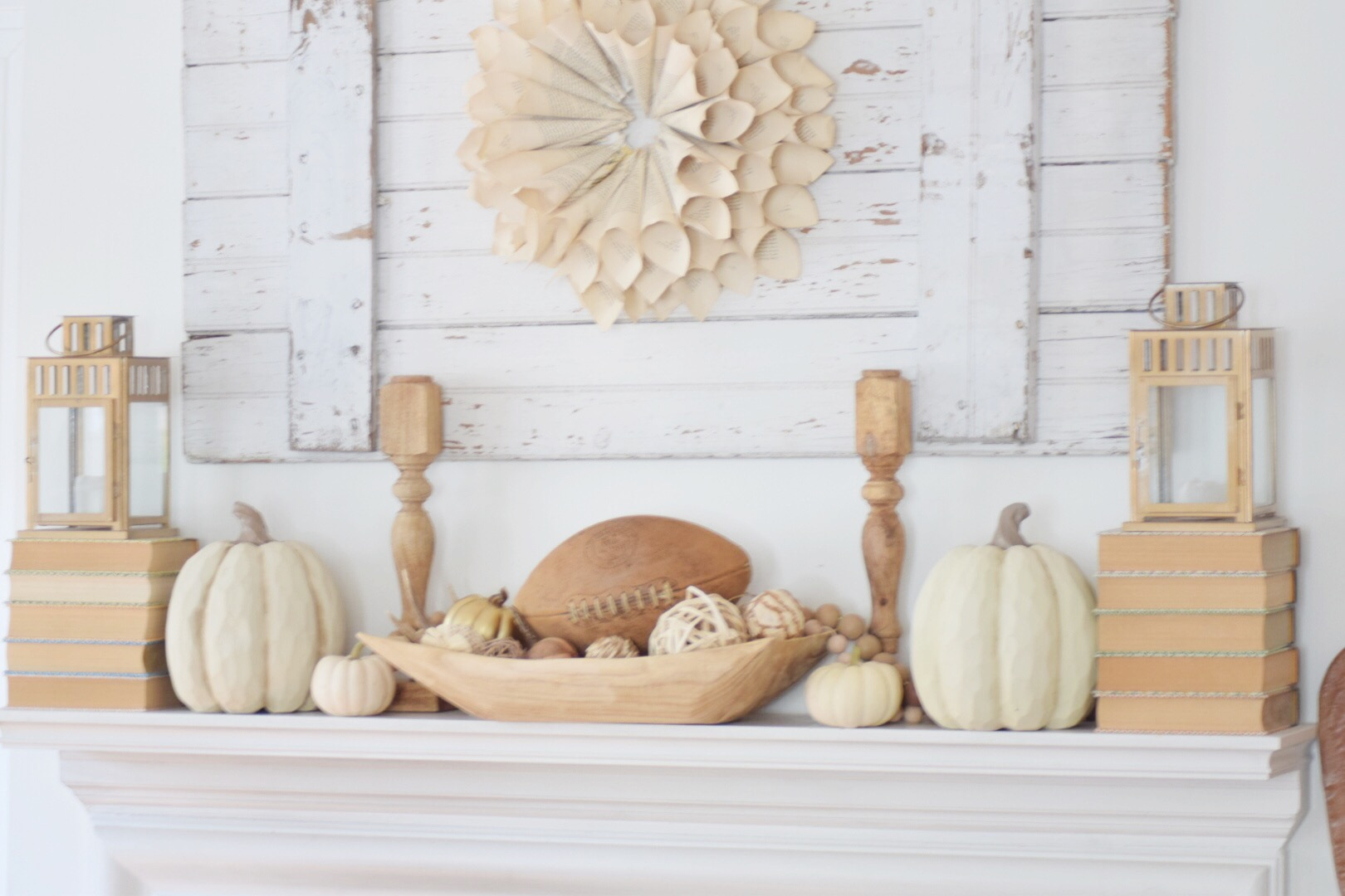Farmhouse Fall Mantel Vignettes