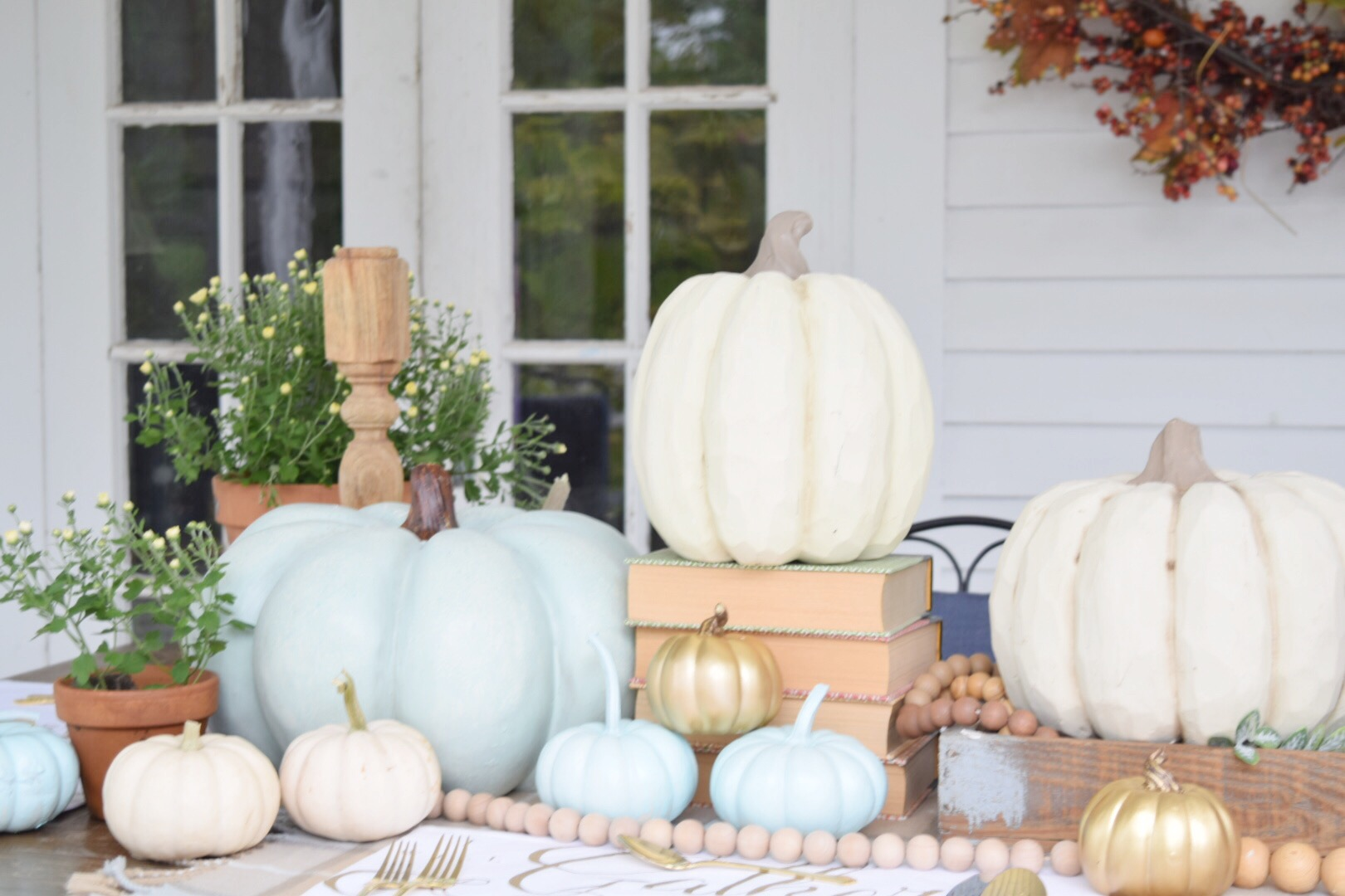 Fall Tablescape on the Porch